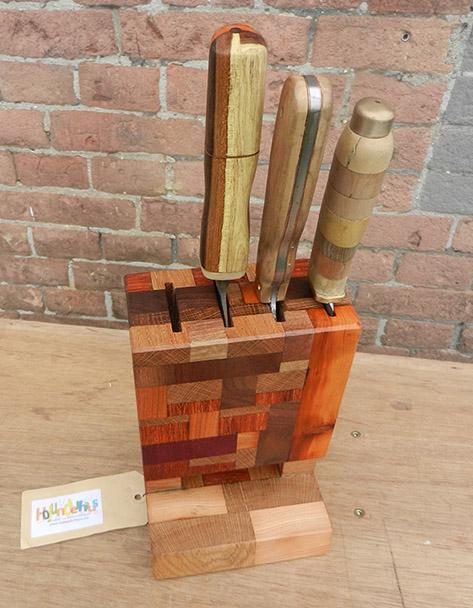 messenblok van hout