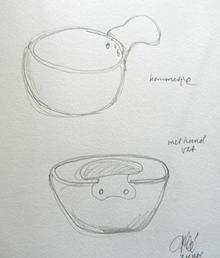 schetsen voor een kommetje