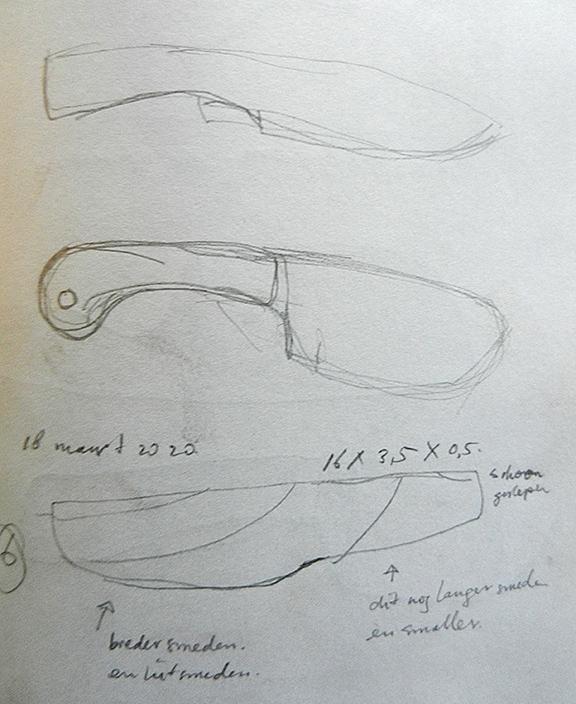 hoe begin ik met het maken van een damast mes?